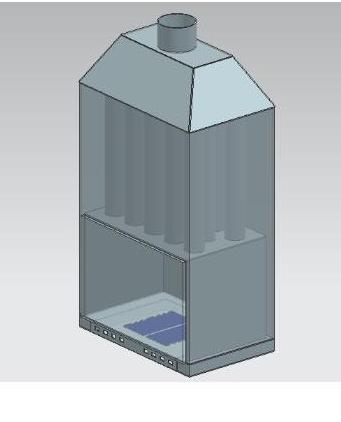 Termosemineu pe lemn tip insert Carla Aqua+ 33 kW schema de vizualizare componente