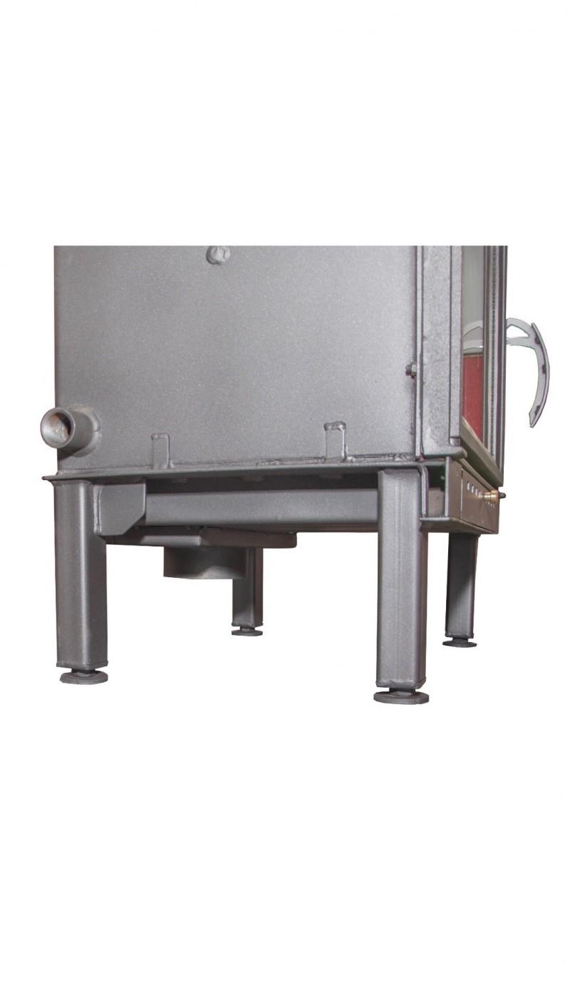 Termosemineu pe lemn tip insert Carla Aqua+ 33 kW vedere picioare suport