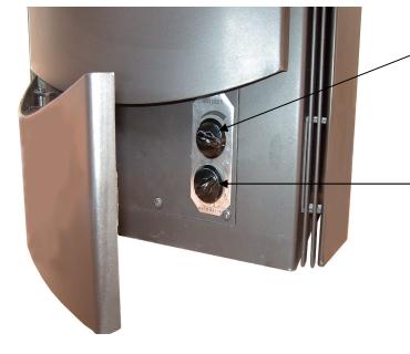 Soba-semineu pe lemn Alfa-Plam Premier - reglare aer de combustie