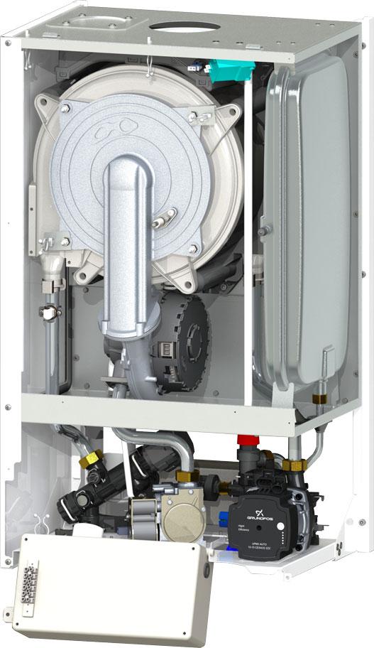 Centrala termica Motan MKDENS 25-P - vedere interioara (fara capac)