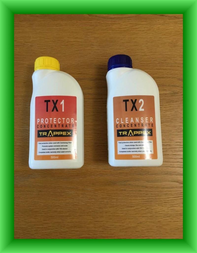 Solutii de protectie si de curatare instalatii de incalzire Trappex TX1 + TX2