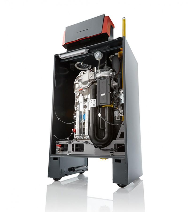Centrala termica in condensatie pentru gaz metan REMEHA G220 ACE - vedere din fata dreapta fara capac