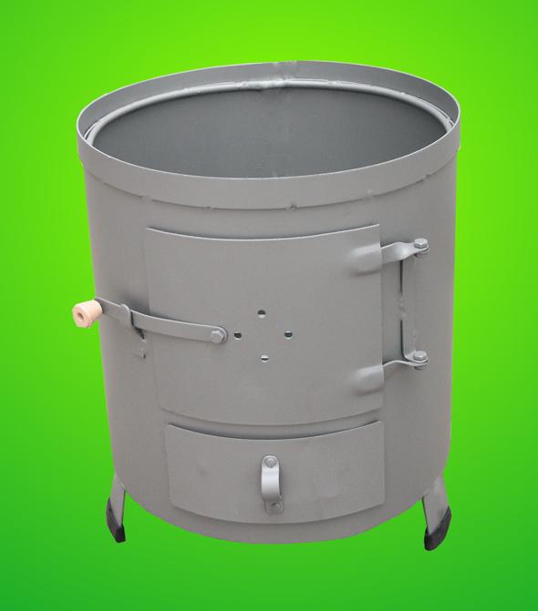 Soba pentru boiler (focar nesamotat) culoare gri