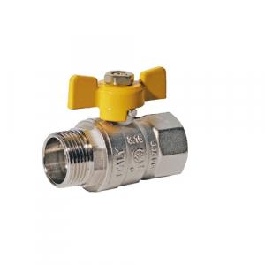 ROBINET DE TRECERE CU SFERA SI FLUTURE PT GAZ PN25bar, FE-FI 3/4