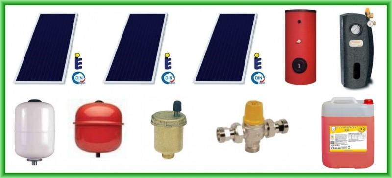 Pachet solar SUNSYSTEM cu trei panouri plane PK SL/CL 2.15 mp + boiler SON V S2/400