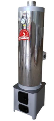 Ansamblu boiler inox 90L cu focar economic FM + ELECTRIC