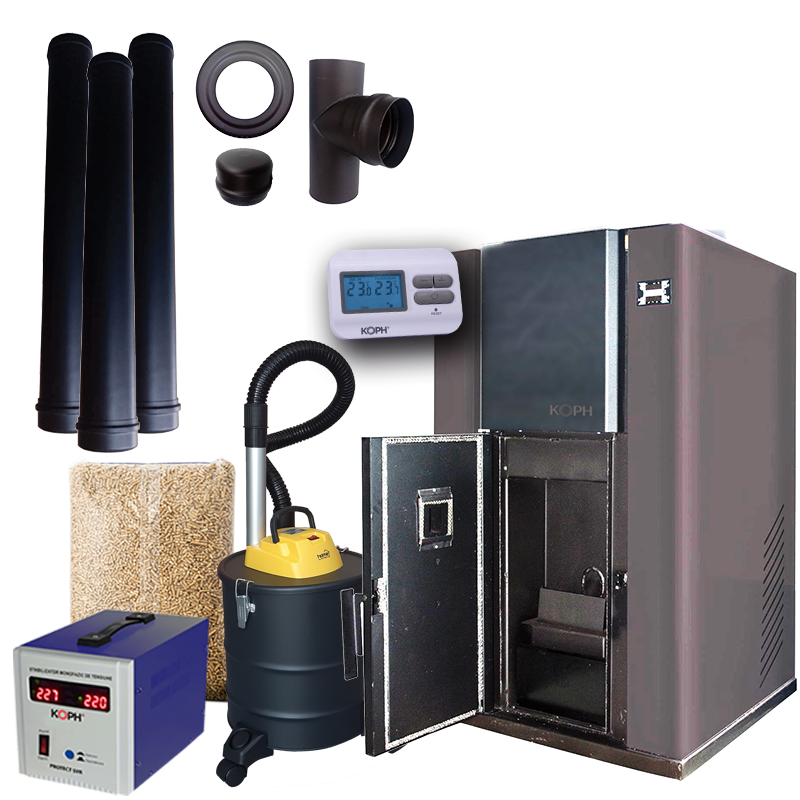 Pachet promotional centrala termica pe peleti PM 40 kW