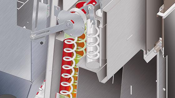 Schimbator de caldura ignitubular cu turbionatori si mecanism de curatare