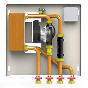 Kit hidraulic pentru separare circuite de incalzire (optional)