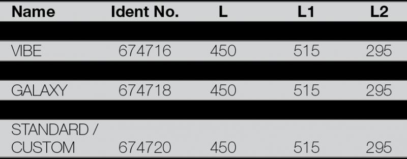 RIGOLA DE SCURGERE PENTRU DUS LIV 450 - tabel cu dimensiuni