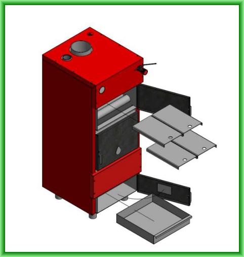Centrala termica pe lemn ECO 47 - elemente componente furnitura