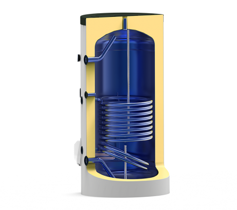 Boiler termoelectric emailat cu o serpentina Eldom Green Line - 1000 L- sectiune