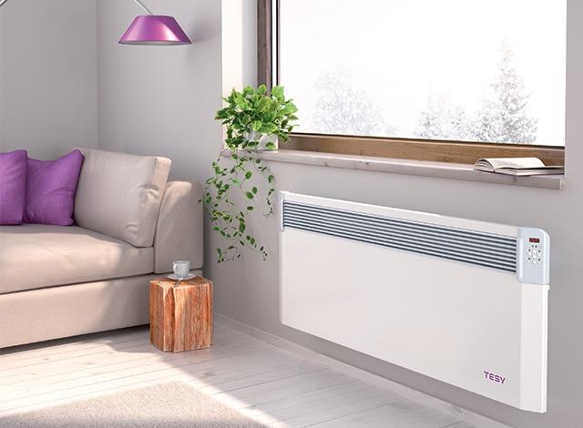 Convector electric cu termostat electronic si WIFI Tesy CN03 EIS CLOUD - exemplu de montaj