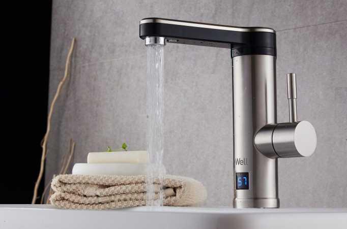 Robinet electric cu incalzire instantanee a apei STREAM 3000 W - exemplu de montaj