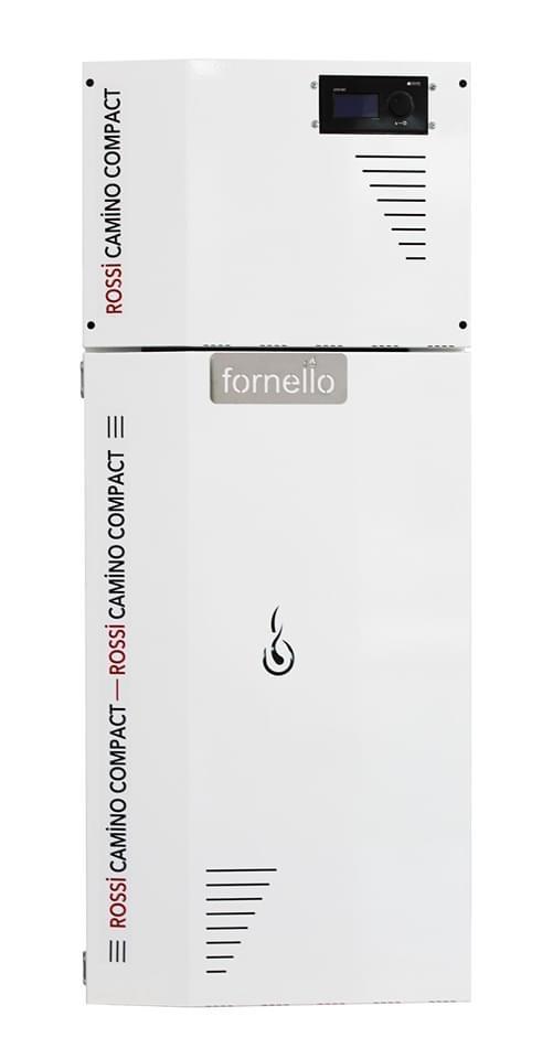 Centrala termica pe peleti ROSSI CAMINO COMPACT 25 kW - vedere din fata