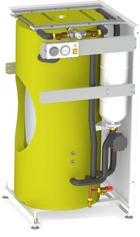 Boiler de apa calda cu acumulare din otel inoxidabil Motan tip BA120L-V1 - vedere interioara
