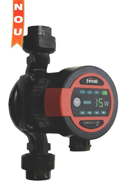 Pompa de circulatie electronica cu eficienta ridicata FERROLI LPA 25-6/180