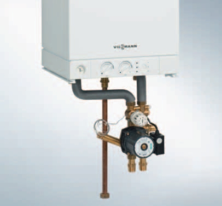 Centrala termica pe gaz Viessmann Vitopend 100-W 30 kW cu tiraj natural kit montaj pentru incalzire prin pardoseala