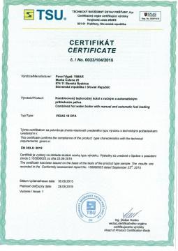 Poza Centrala termica combi pe lemn cu gazeificare si pe peleti VIGAS 18 DPA 24/18 kW certificat EN303-5:2012
