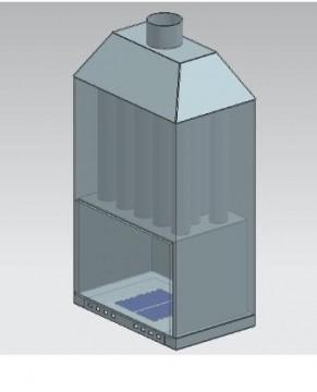 Poza  Termosemineu pe lemn tip insert Carla Aqua+ 33 kW schema de vizualizare componente
