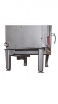 Poza  Termosemineu pe lemn tip insert Carla Aqua+ 33 kW vedere picioare suport