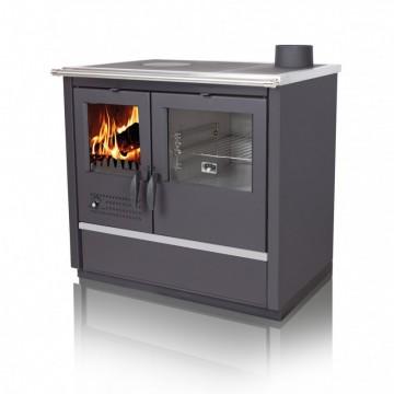 poza Soba de gatit pe lemn Nord din inox cu incalzire centrala 16 kW