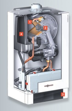 poza Centrala termica pe gaz in condensatie Vitodens 200-W 35 kW incalzire