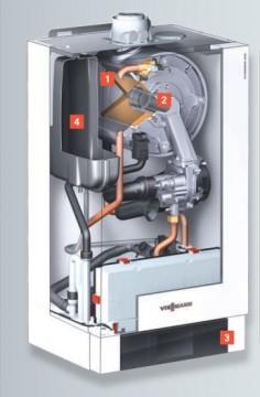 poza Centrala termica pe gaz in condensatie Vitodens 200-W 150 kW incalzire