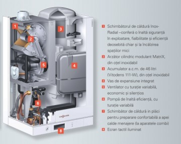 poza Centrala termica pe gaz in condensatie Vitodens 111-W 35 kW