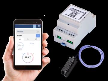 Poza Controler de temperatura conectat la Internet COMPUTHERM B300 Wi-Fi cu senzor de temperatura cu cablu