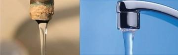 Poza Dedurizator galvanic EnergyWater - inainte si dupa instalare