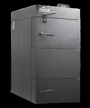 poza Centrala termica pe lemn cu gazeificare Ferroli CGF 36 kW cu panou de comanda digital