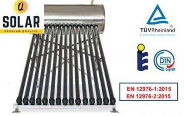 poza Panou solar Q Solar Premium presurizat boiler INOX 200 litri 20 tuburi vidate