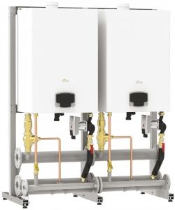 Poza  Grup de centrale termice pe gaz FERROLI FORCE W - exemplu de montaj