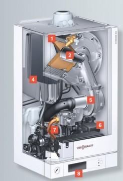 poza Centrala termica pe gaz in condensatie Vitodens 100-W 35 kW Incalzire