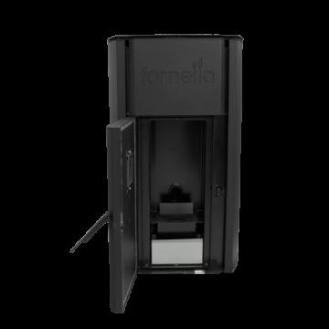 Poza Centrala termica pe peleti FORNELLO ROYAL 25 kW - vedere frontala cu usa deschisa