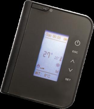 Poza Semineu pe peleti CLAM EVA 10 kW - telecomanda