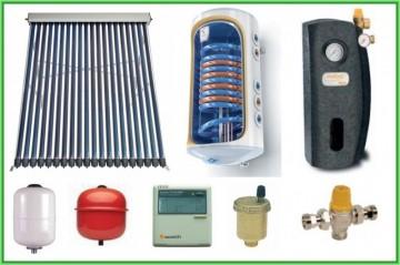 poza Pachet panou solar cu tuburi vidate SONTEC si boiler TESY 120 litri