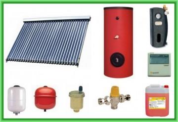 Poza Pachet panou solar cu 30 de tuburi vidate SONTEC SPA-S58/1800A-30 si boiler SON V S2/200 200 litri