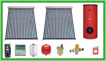 Poza Pachet solar cu doua panouri cu tuburi vidate SPA-S58/1800A-20 si boiler SON V S2/300 300 litri