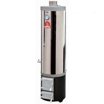 Poza Ansamblu boiler inox 90 litri si focar cu usi din fonta - 5 ani garantie