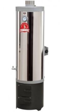 Poza  Ansamblu boiler inox 120 L cu focar cu usi din tabla + ELECTRIC