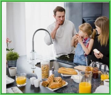 Poza Robinet electric instant apa calda cu tija flexibila 3000 W