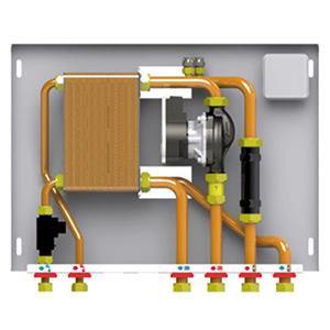 Poza Kit hidraulic pentru separare circuite de incalzire si pentru preparare acm (optional)