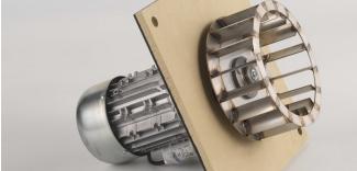 Poza Centrala termica pe lemn cu gazeificare CALOR ASPIRO - ventilator de gaze arse