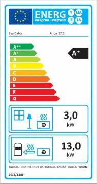 Poza Termoseminee pe peleti FRIDA 17.5 kW -  eticheta energetica