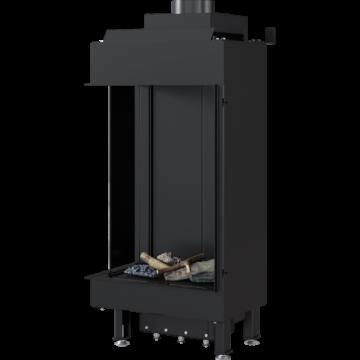 Poza Semineu pe gaz metan tip insert L45/68 6.5 kW cu geam pe stanga