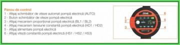 Poza Pompa de circulatie electronica cu eficienta ridicata FERROLI LPA 25-6/180 - panou de control